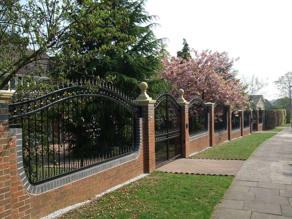 Brickwork and quality bespoke railings