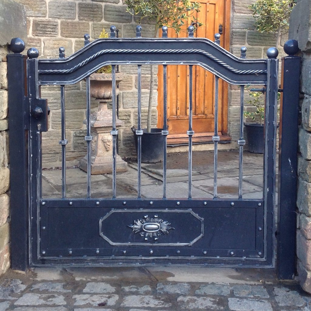 Hand crafted wrought iron gate