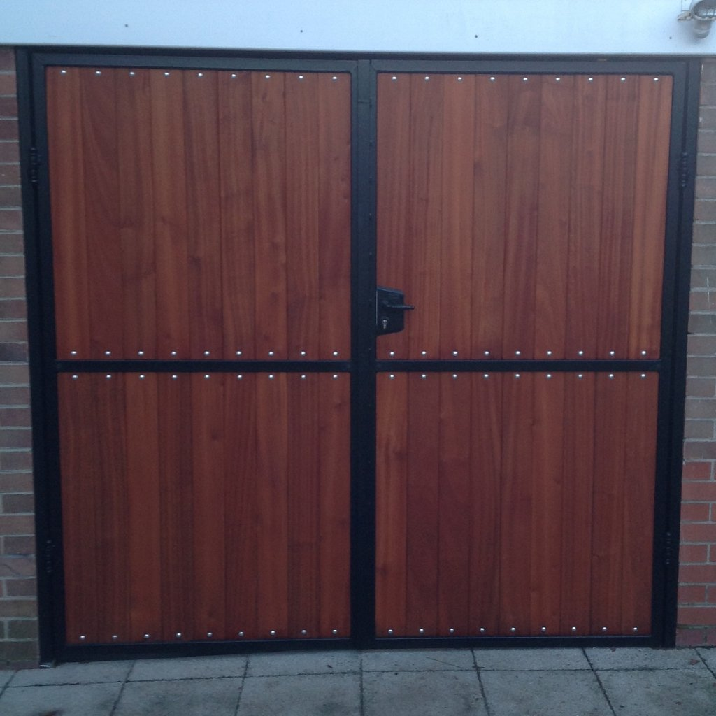 Hardwood garage doors
