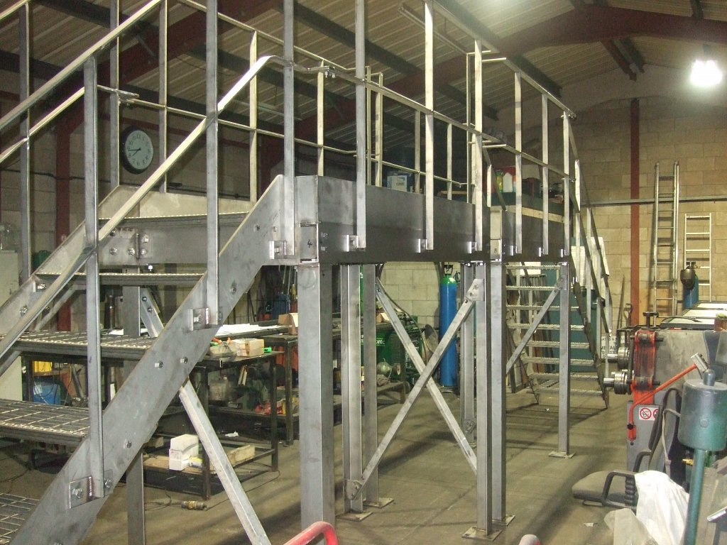 Stainless steel stairway fabrication for STW