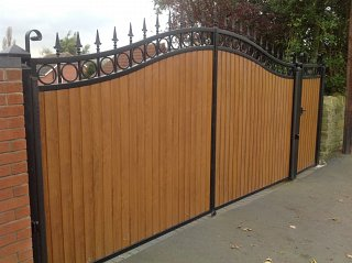 Metal And Upvc Combined Gates