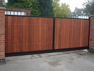Metal And Wood Combined Gates