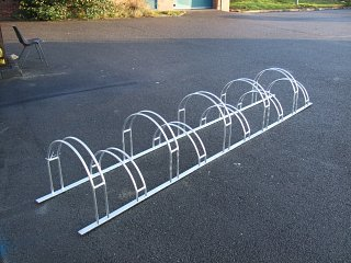 Galvanised bike racks