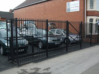 Car sales security railings