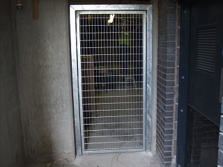 Internal galvanised security gate with mag-lock